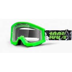 Очки подростковые 100% Strata JR Moto Crafty Lime Clear Lens